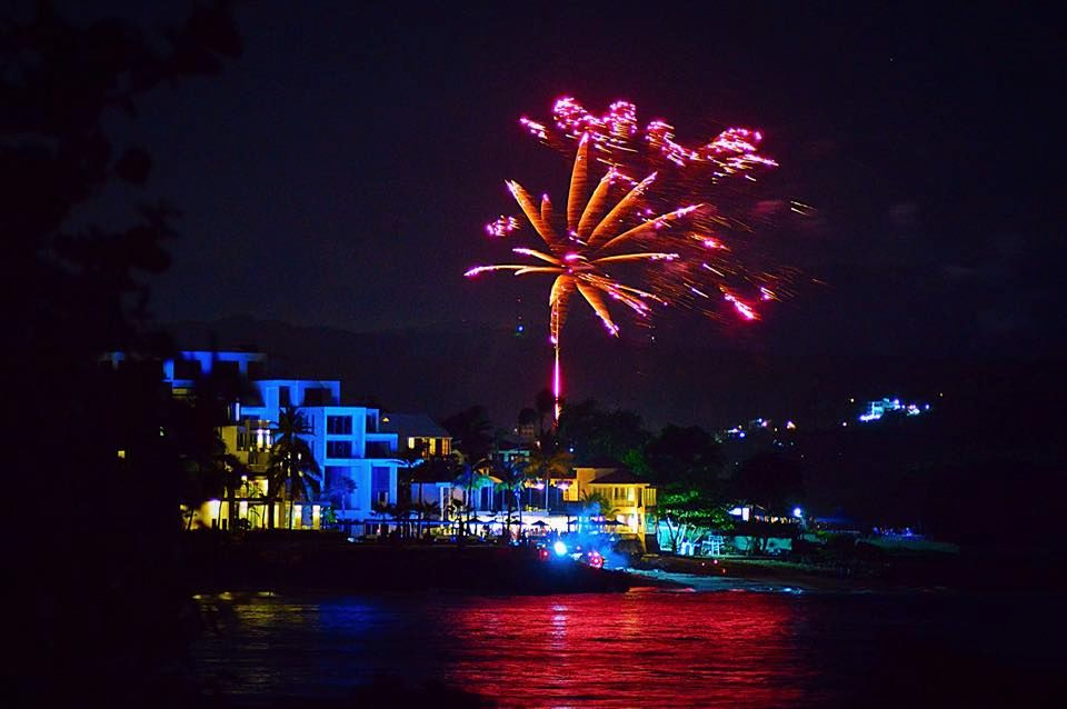 fireworks over sosua